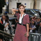 Victoria and Albert Museum Summer Party, London, UK  Pictured: Jenna Coleman Ref: SPL1307153  230616   Picture by: Elliot / Splash News  Splash News and Pictures Los Angeles:310-821-2666 New York:212-619-2666 London:870-934-2666 photodesk@splashnews.com